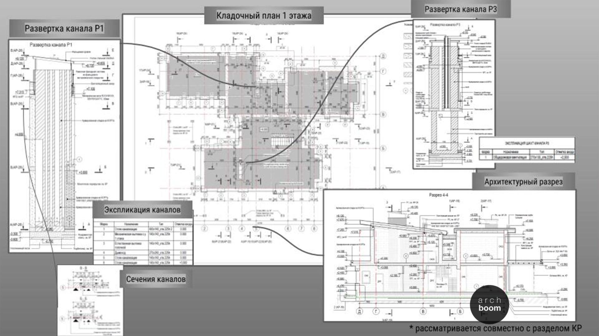 пример архитектурных чертежей