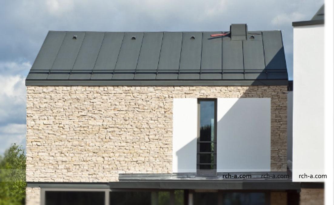 Крыша без свеса Скрытая водосточная система Реализация