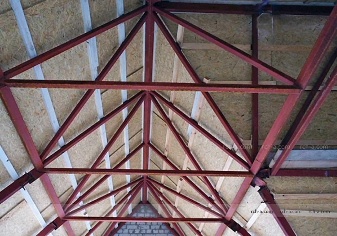 Металлические конструкции крыши