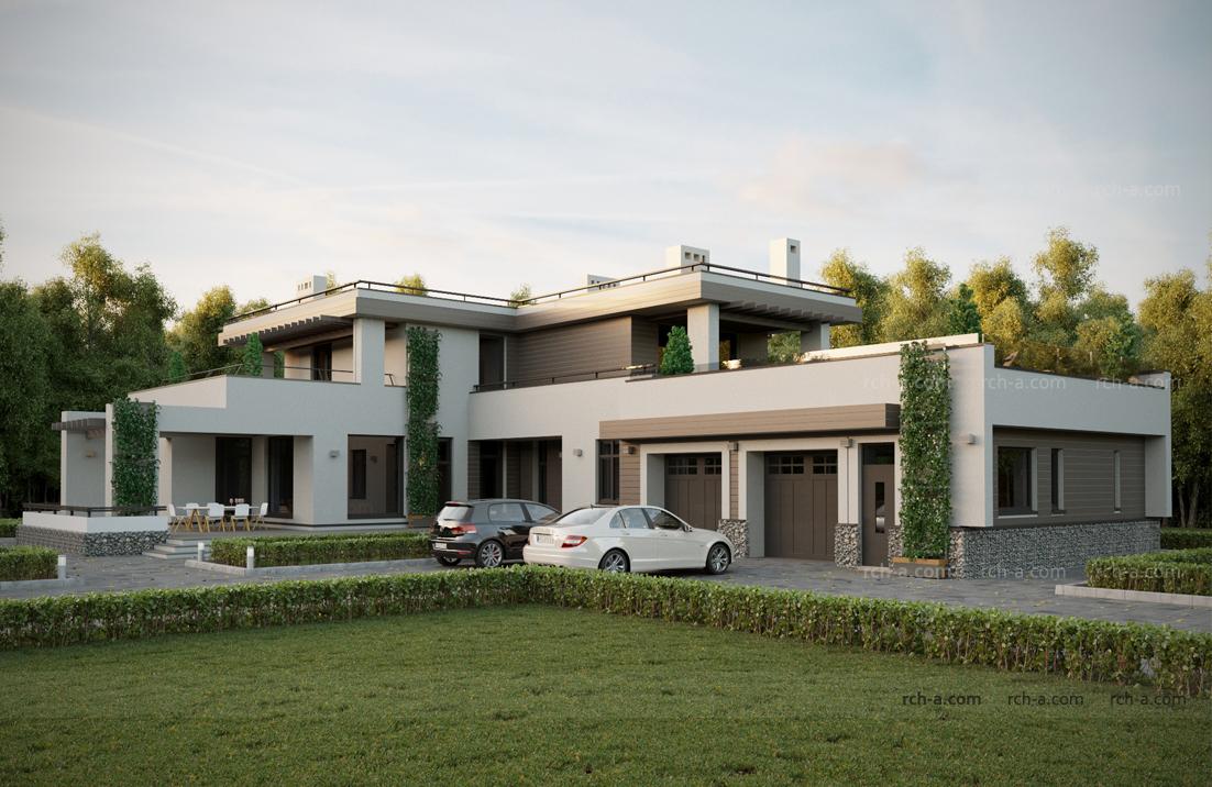 Современная архитектура частного дома