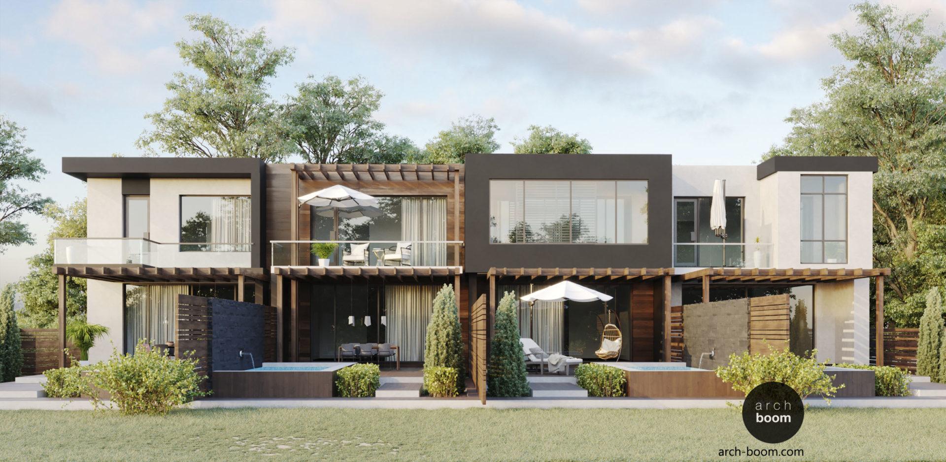 архитектурный проект таунхауса в современном стиле харьков киев