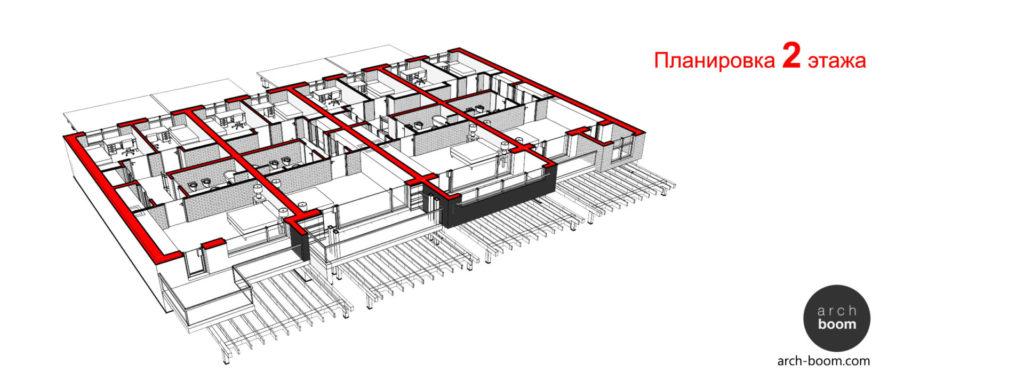 планировка двухэтажного таунхауса