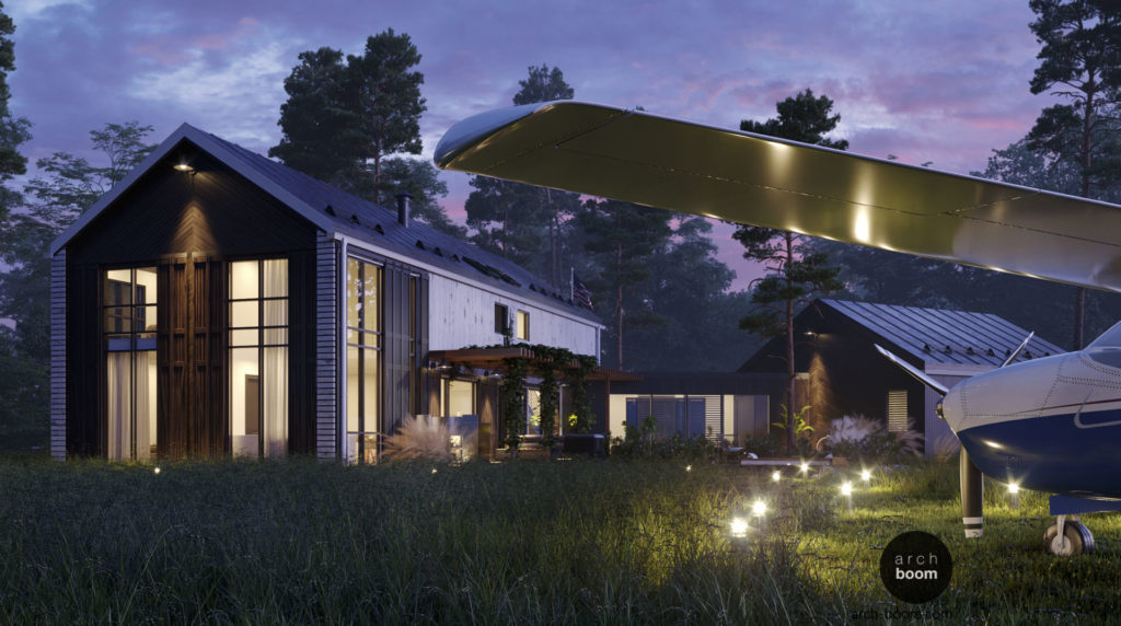 индивидуальный проект дома с гаражом на большом участке