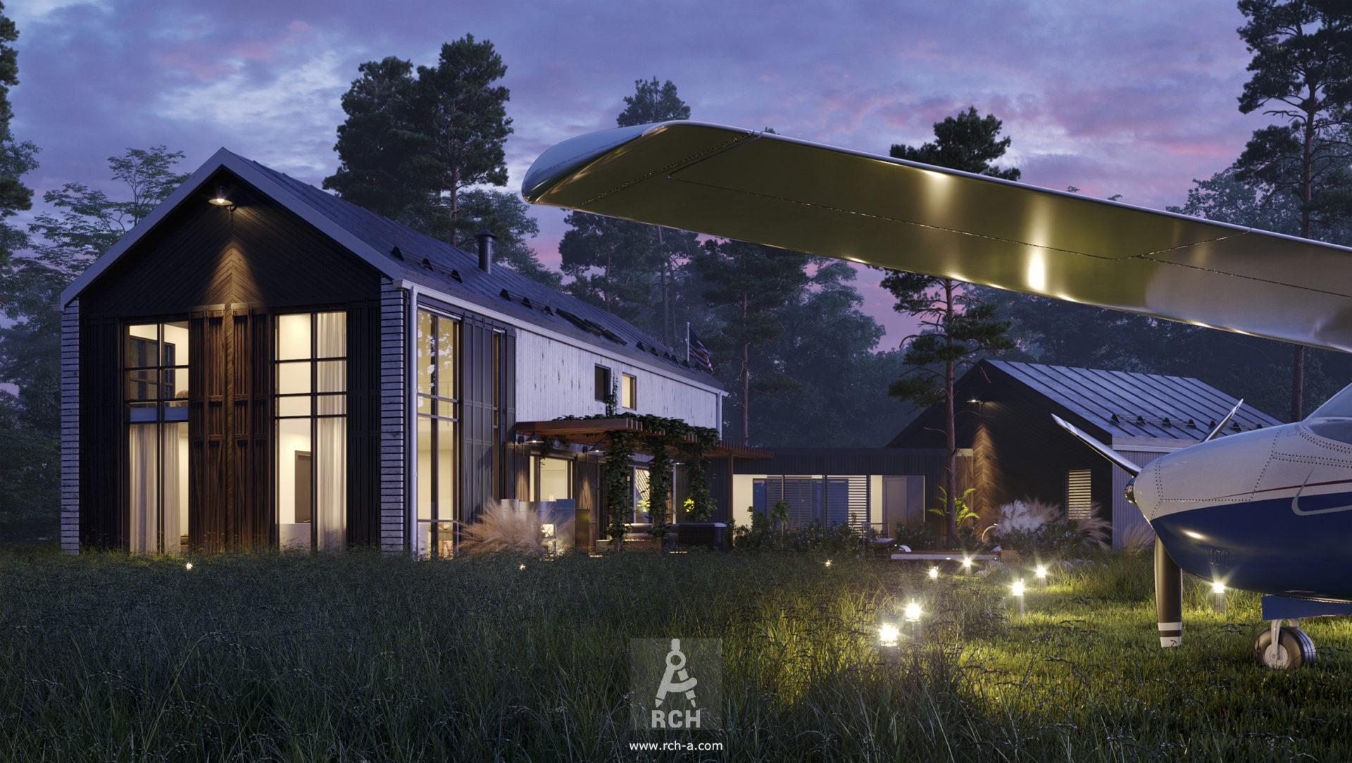 проект дома-сарая дом-амбар