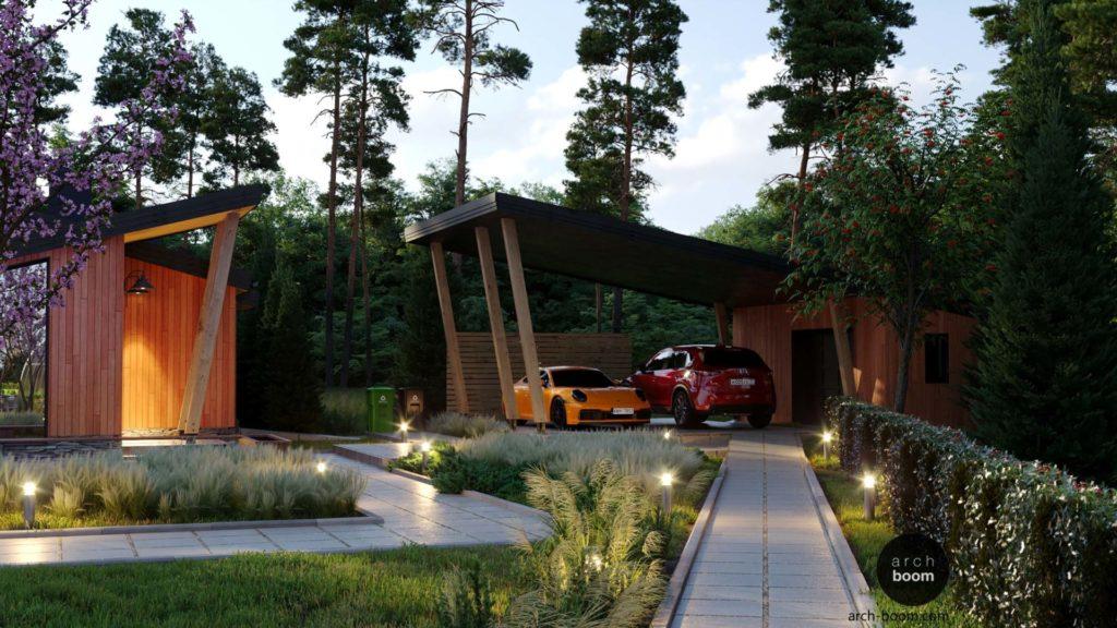 комплексный проект жилого дома и хоз построек