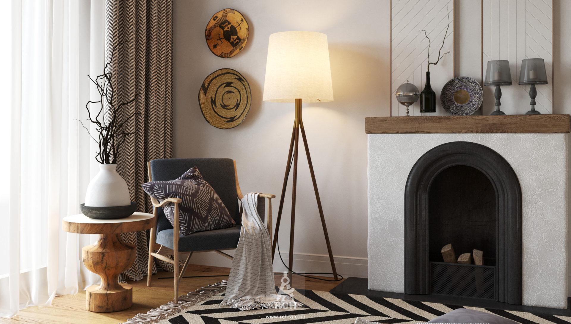 """Проект интерьера дома (для нашего проекта """"Современное шале"""", спроектированного в 2015 г.)"""