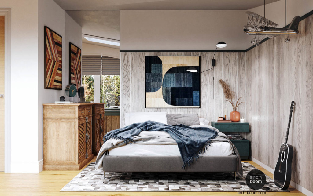подростковая спальня для творческого человека