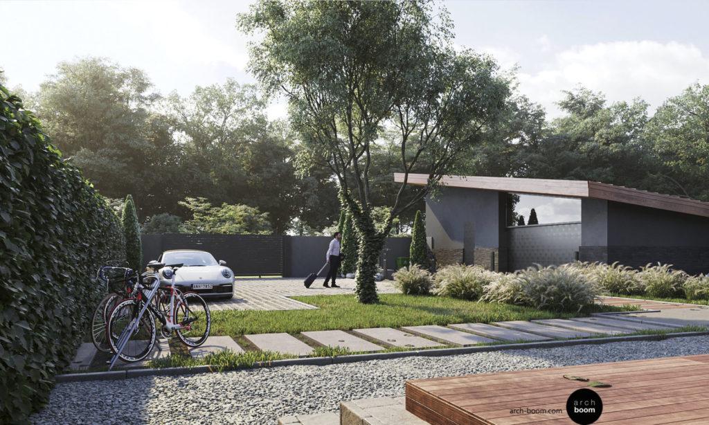 проект дома и отдельностоящего гаража
