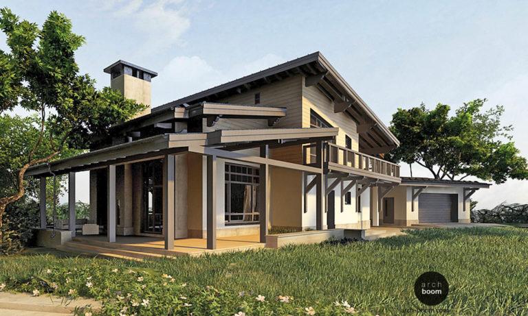 Дом в стиле шале – архитектурный проект и интерьер