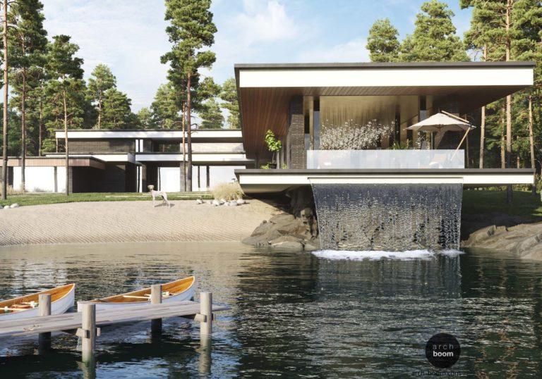 Эскизный проект частной резиденции в стиле contemporary