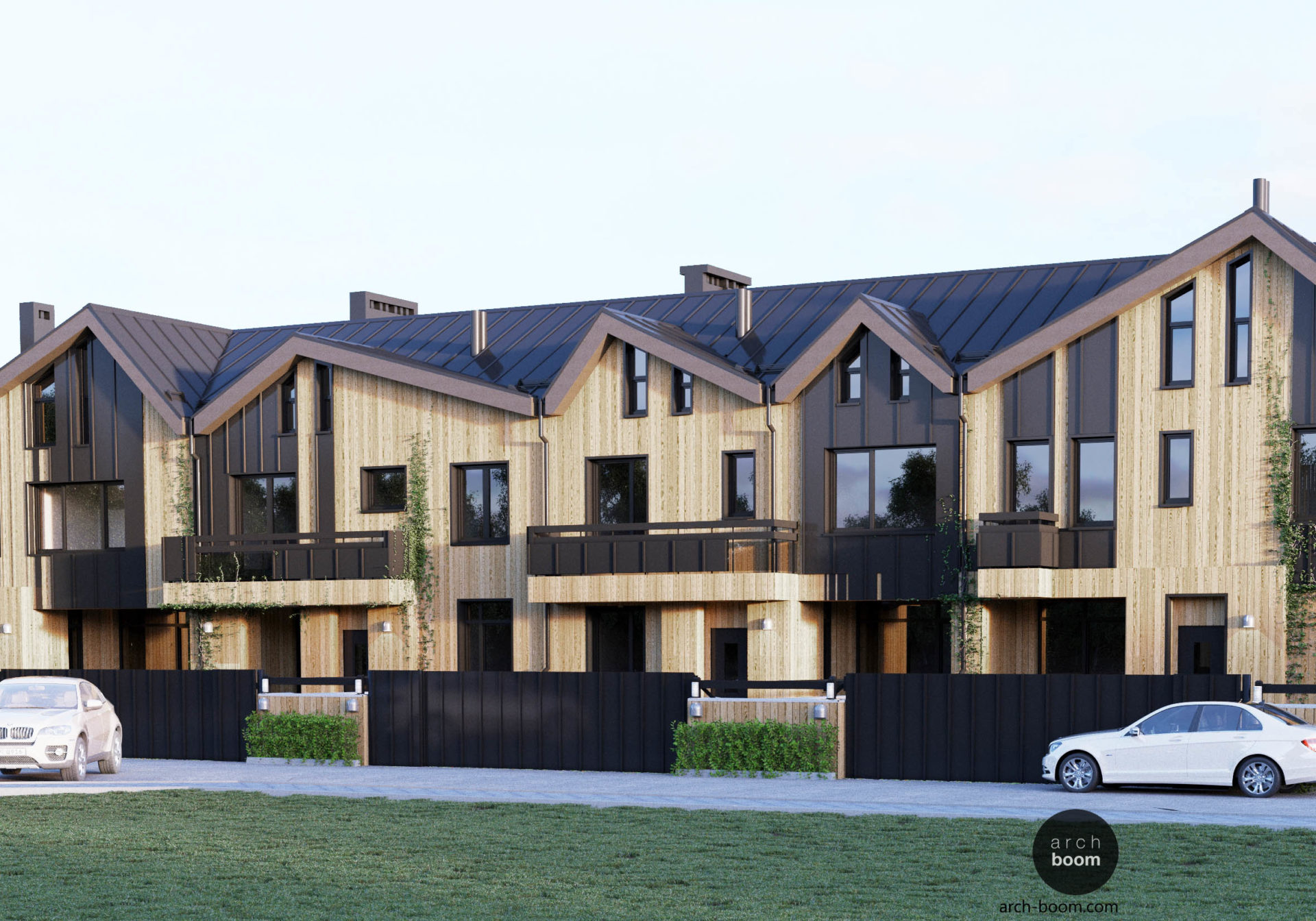 таунхаус проект двухэтажного дома с мансардой
