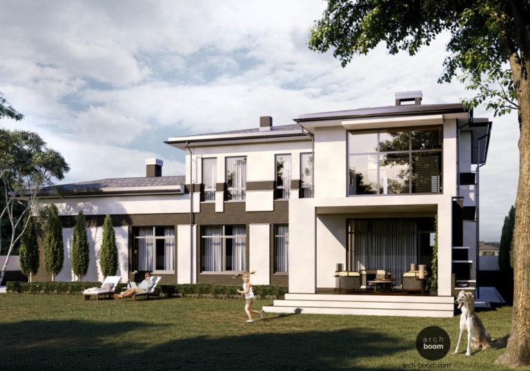 Проект Г-образного жилого дома