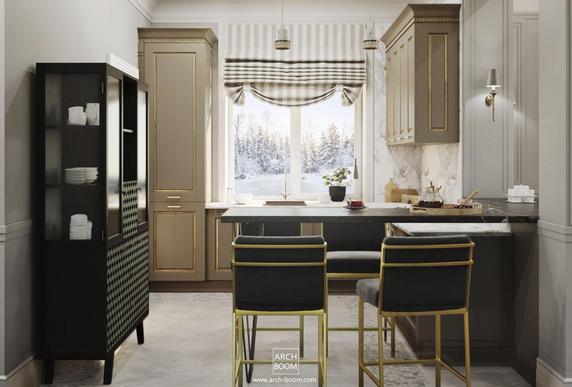 czarne dodatki wintażowe w kuchni