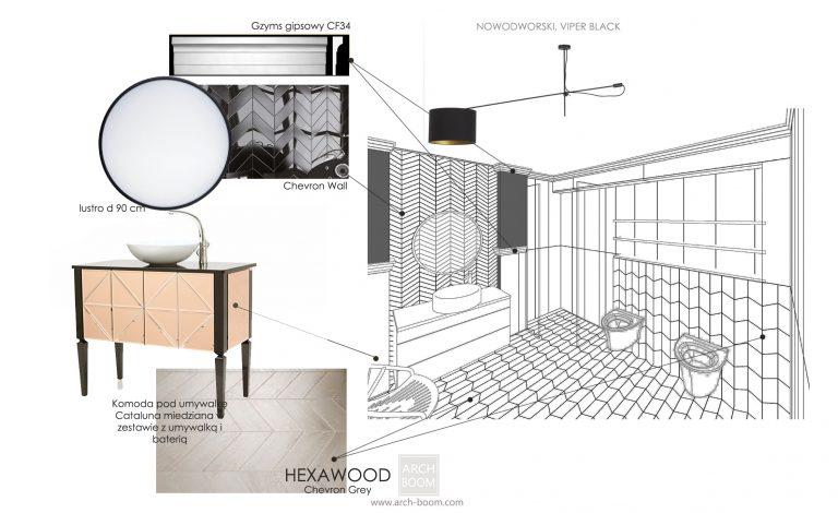 Przykładowy projekt aranżacji wnętrz łazienki