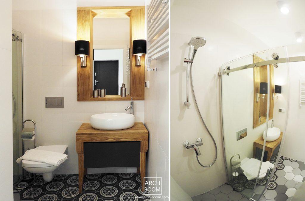 płytki heksogonalii w łazience Efektowna podłoga w łazience