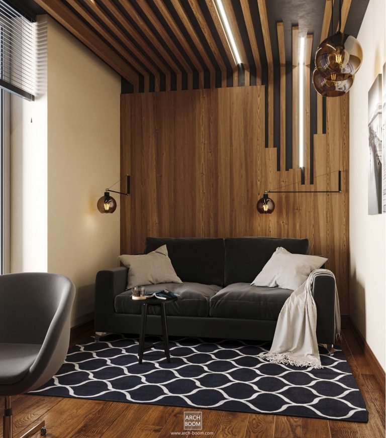 Aranżacja wnętrza pokoju dla gości w domu jednorodzinnym