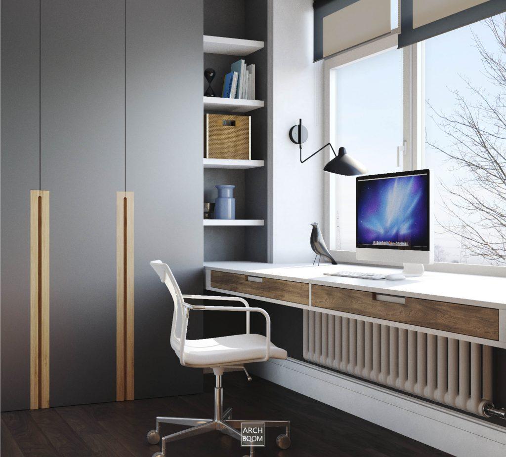 biurko nowoczesne na wymiar biurko na wspórnikach