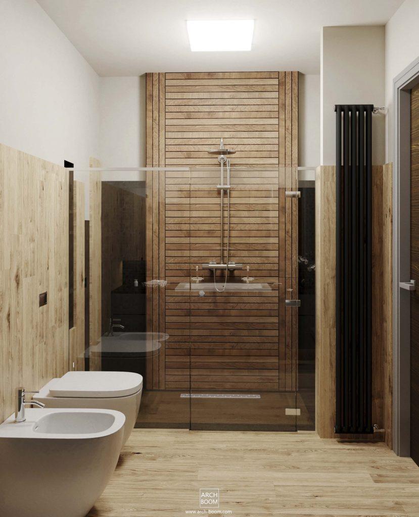 foto łazienki z dużym prysznicem