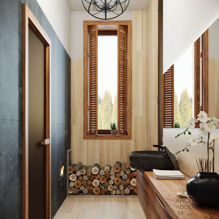 Łazienka w klimacie drewna