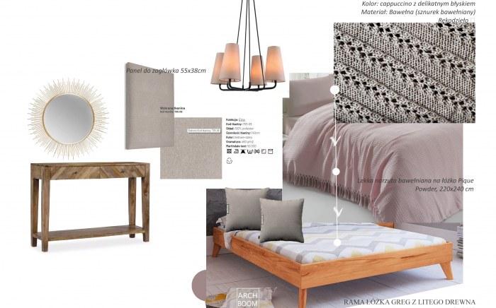 meble do głównej sypialni w stonowanych kolorach