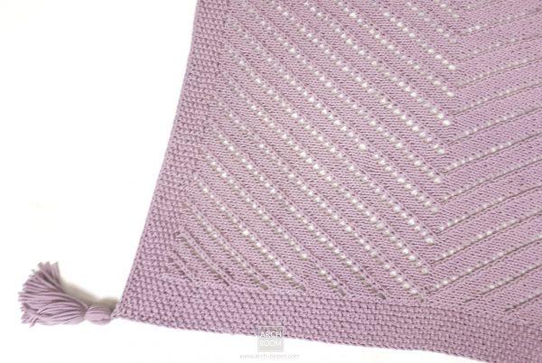 Narzuta na łóżko ręcznie robiona: kolor brudny róż 160×120 cm
