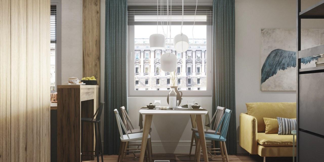 stół jadalniany w stylu skandynawskim