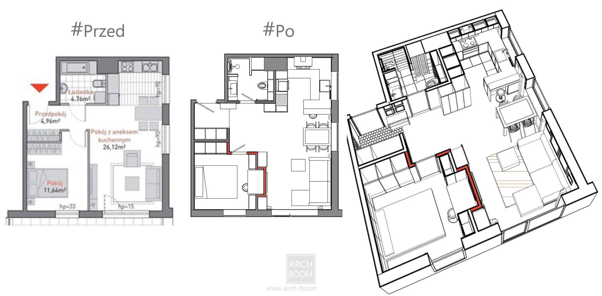 przeniesienie ścianek działowych w mieszkaniu