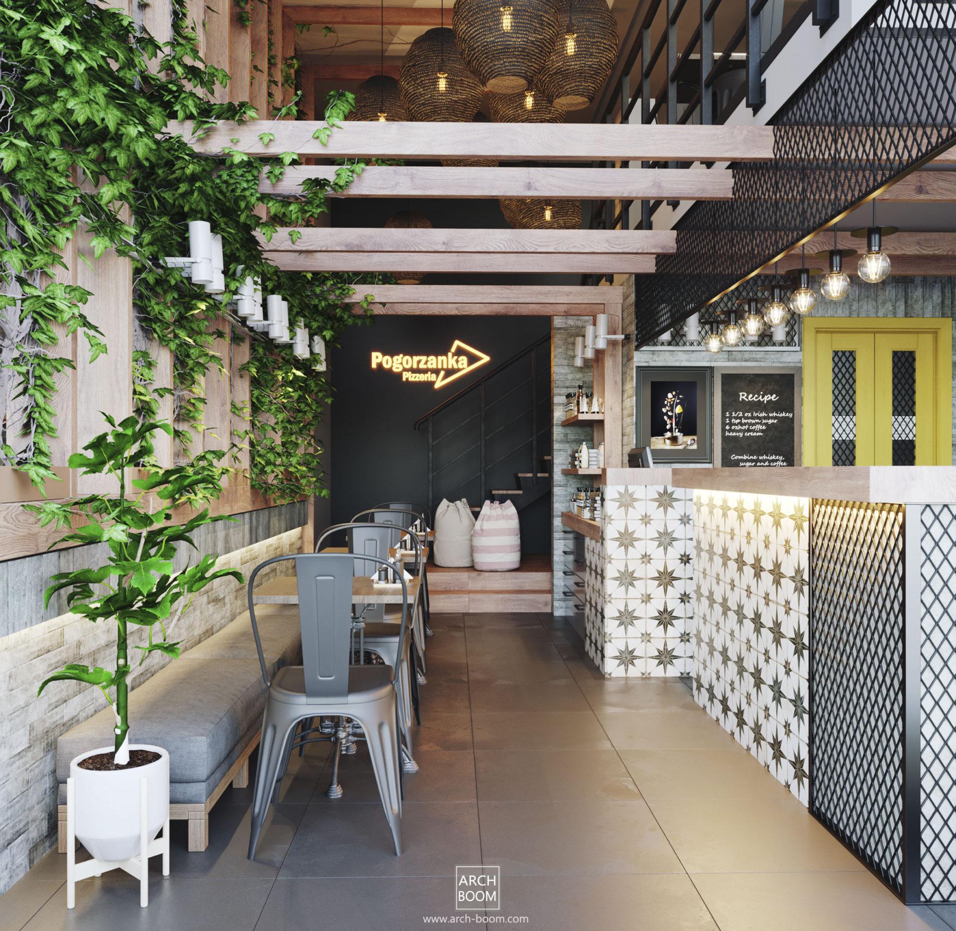 architekt wnętrz lokal gastronomiczna