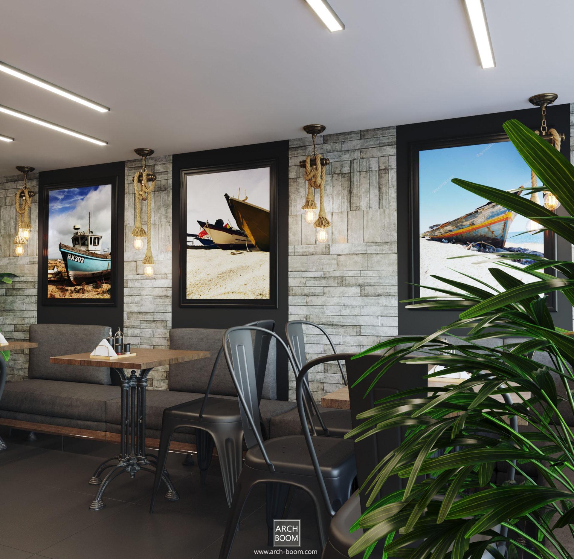 Projekt baru w stylu morskim Gdańsk Gdynia Trójmiasto