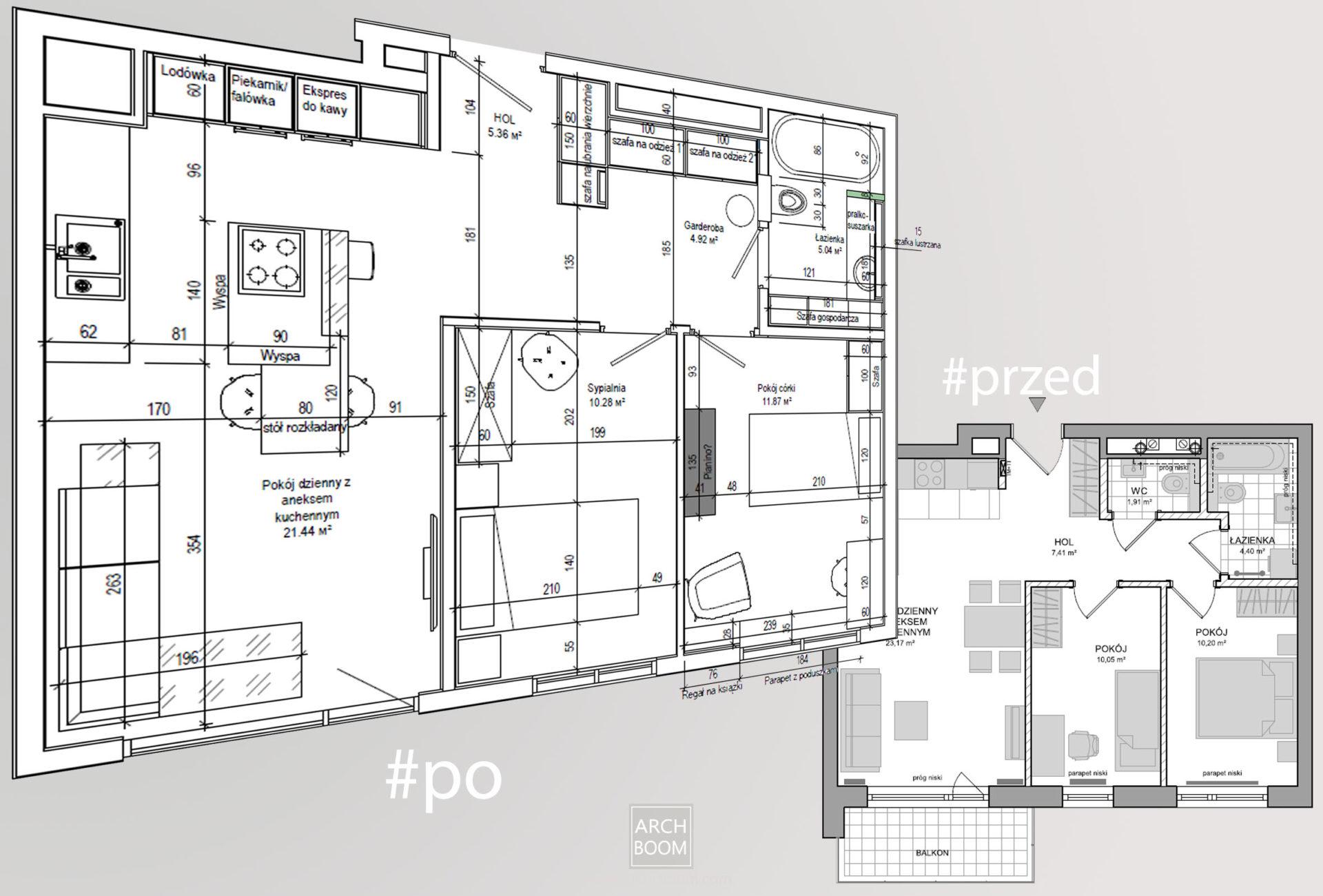 projektowanie wnętrz mieszkania i rozmieszczenie zabudow meblowych