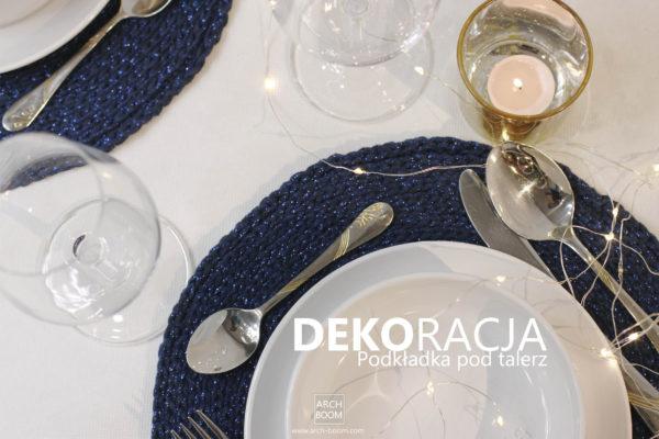 Dekoracja stołu: Podkładka pod talerz granatowa