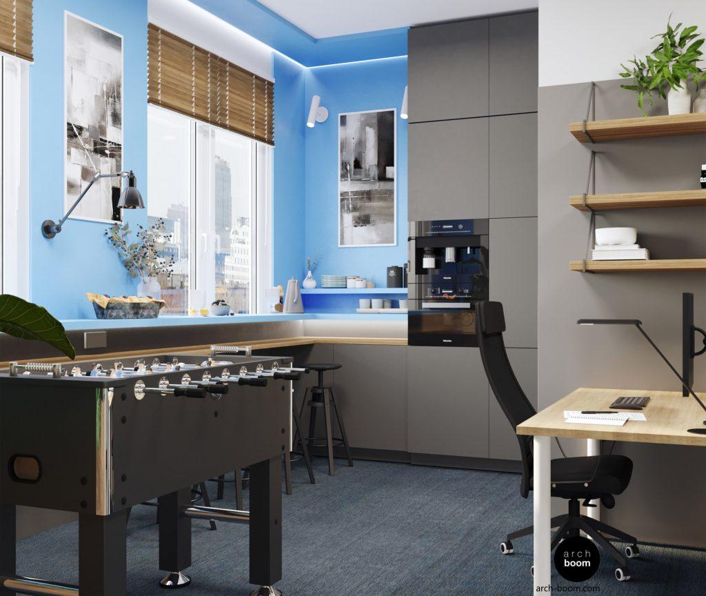 kuchnia w projekcie biura