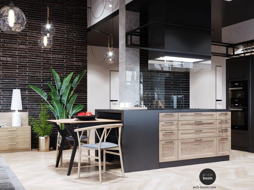 Projekt kuchni w stylu industrialnym