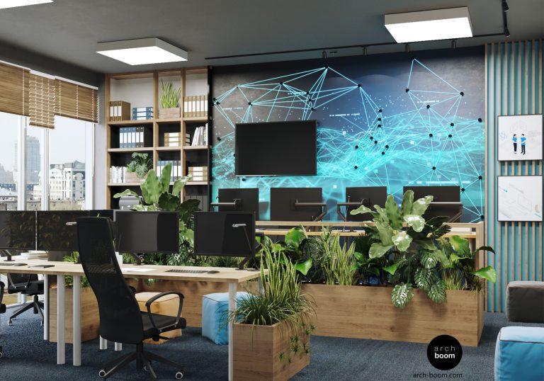 Projekt biura dla branży IT w Gdańsku