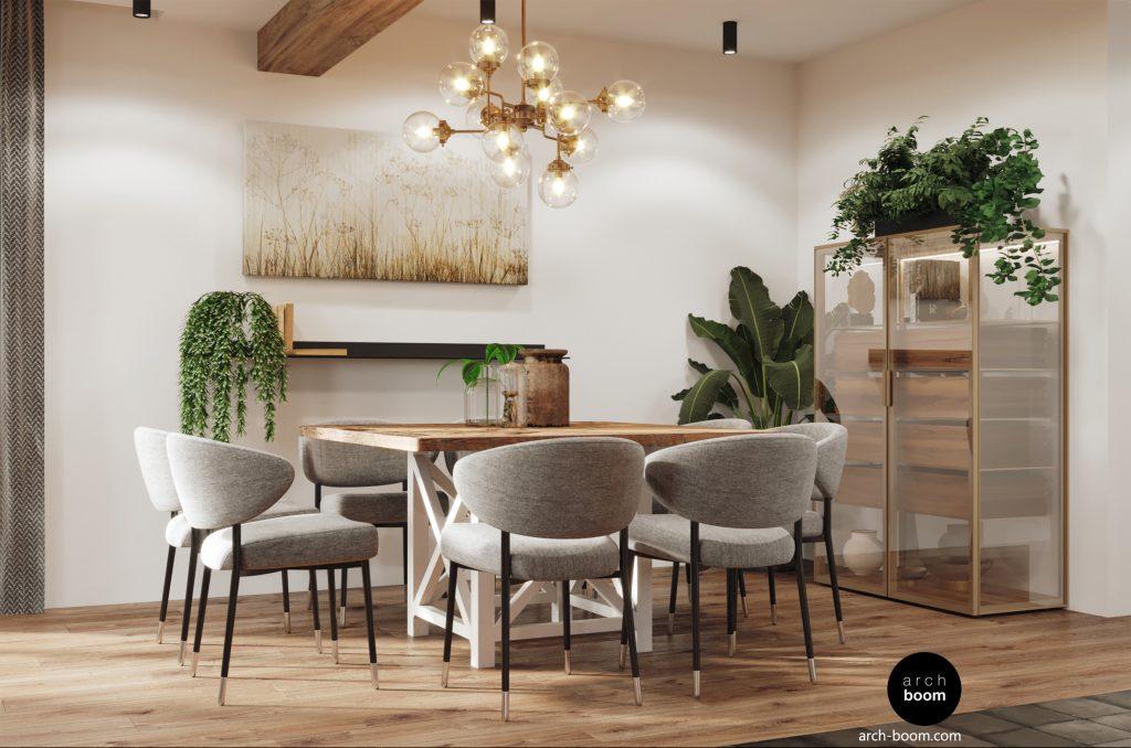 stół kwadratowy jadalniany w stylu prowansalskim