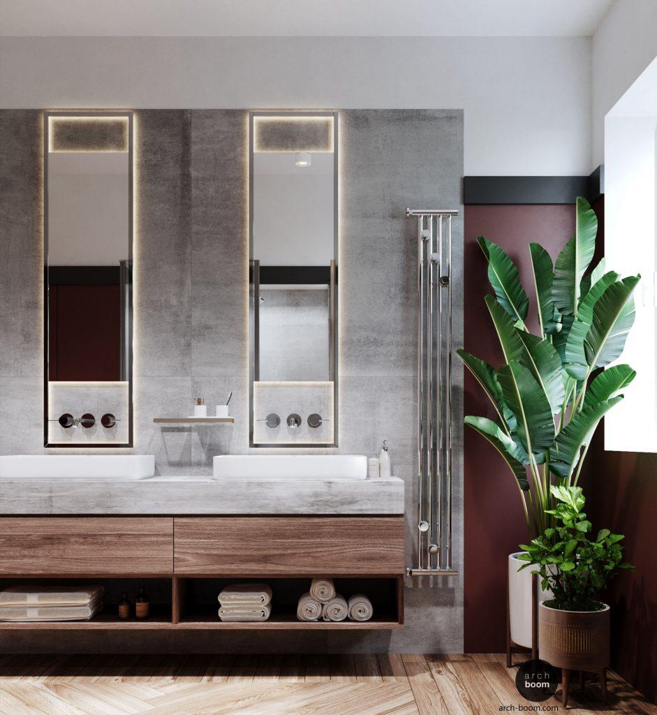 projekt łazienki dla pary