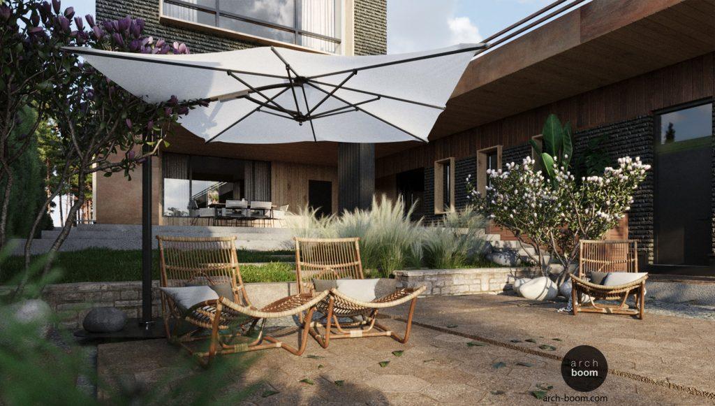 Kompleksowy projekt domu - architektura wnętrza ogród