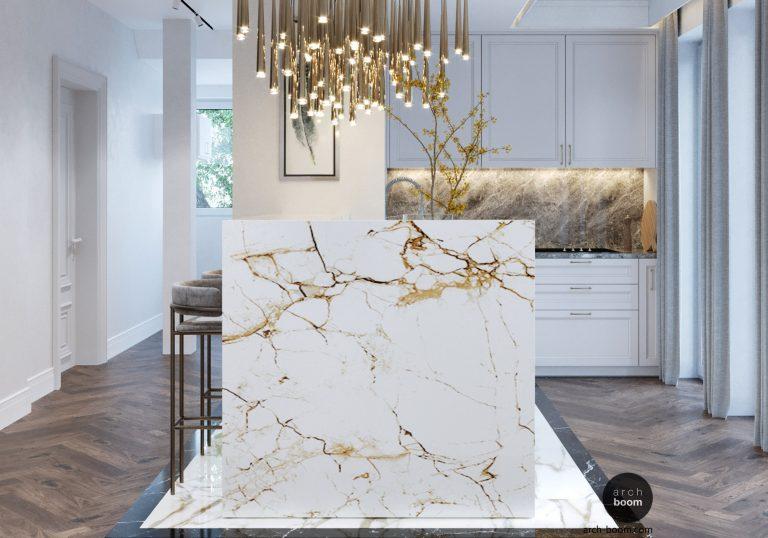 Salon kosmetyczny: marmurowa biel i złoto