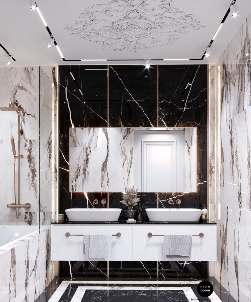 łazienka z lekkim przepychem
