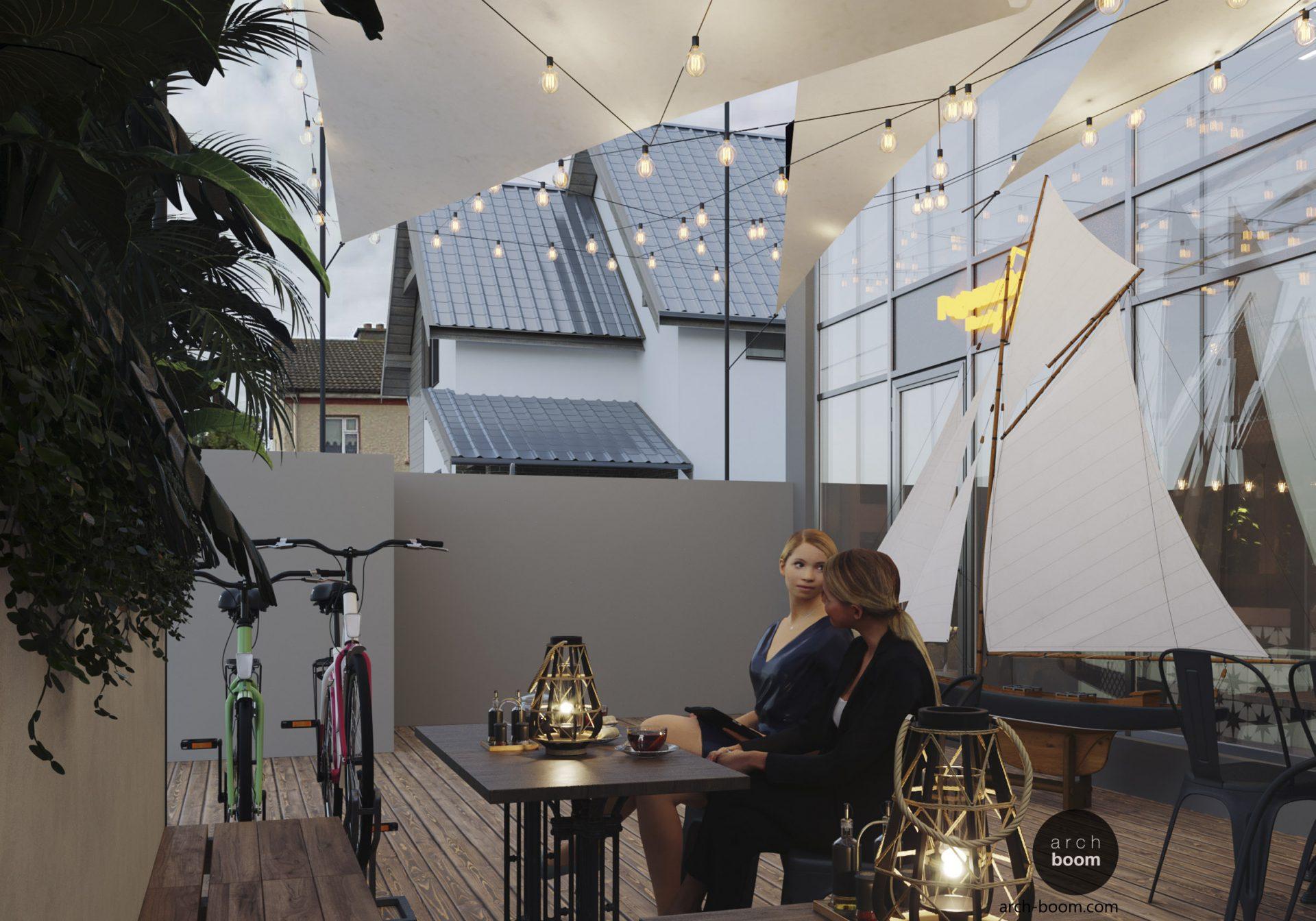 projekt ogródka restauracyjnego