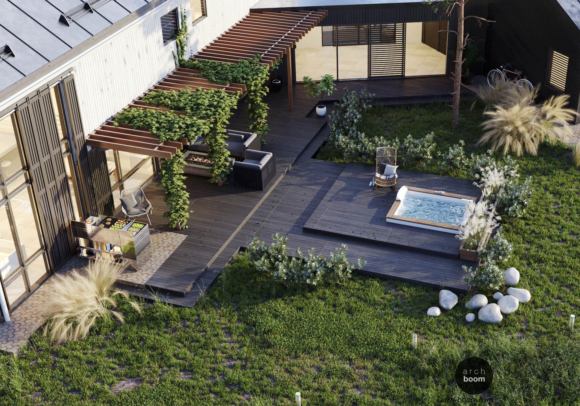 ogrodowe spa projekt ogrodu
