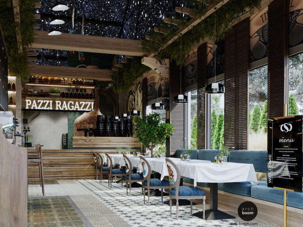 projekt włoskiej restauracji